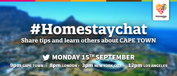 Twitter chat homestay cape town