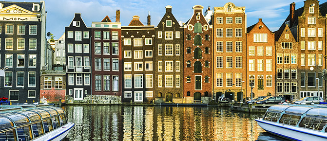 Amsterdam traditional houses