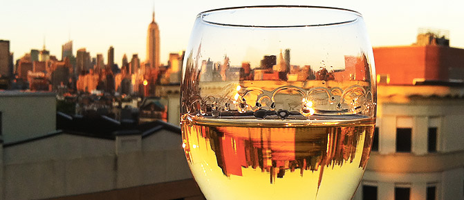Manhattan bars new york in glass